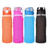 botella de agua de consumición plegable portable del deporte al aire libre del apretón 750ml