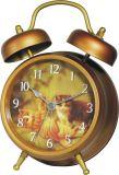 金属の目覚し時計(F1217A)