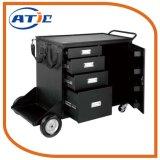 Armário de ferramentas de Manuseio de Materiais Metálicos Carrinho mão empurre o carrinho de gaveta de armazenamento