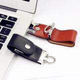 Carte mémoire Memory Stick en cuir d'entraînement de crayon lecteur de trousseau de clés du lecteur flash USB 4GB