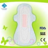 Higiene de los aniones de algodón absorbente toalla sanitaria ultra delgado con alas