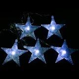 Свет шнура звезды белизны 30 СИД солнечный для сада украшает
