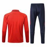 Psgのサッカーのトラックスーツの卸売にカスタム設計するサッカーのウォーミングアップのスーツのサッカーのトレーニングのトラックスーツを人を配置する
