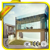 6+6 mm laminado color cristal Low-E para muro cortina