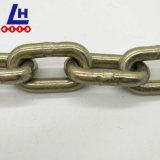 Catena a maglia media ordinaria placcata zinco giallo dell'acciaio dolce