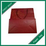Glatter Laminierung-rote Farben-Papierbeutel