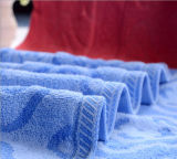 100%年の綿のホテルのヤーンによって染められる綿タオルの浴室タオル
