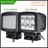 7pulgadas Lámpara LED de trabajo resistente al agua directamente de fábrica de iluminación LED de alquiler de coches todoterreno camión