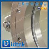 Didtek Leve tipo aleta através da canalização da válvula de gaveta da faca com prensa pneumática