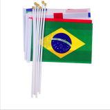 Bandeira de venda quente da bandeira, bandeira nacional opcional de ondulação da bandeira da mão (YB-m-024)