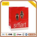 Roter intelligenter Form-Uhr-Beutel, Geschenk-Papierbeutel, überwachen Papierbeutel