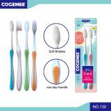 2 em 1 Toothbrush adulto do bloco da economia com cerdas macias 130