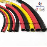 Manguito de aire plano híbrido flexible del manguito Rubber/PVC del compresor de aire