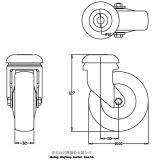 Panier 4 pouces avec TPR roues pivotantes