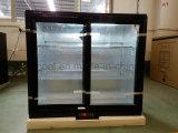 단 하나 온도를 가진 두 배 그네 유리제 문 음료 전시 냉각기 상업적인 냉장고