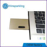 Mémoire disque de flash USB de carte en métal d'or