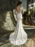 Платье венчания мантии Mermaid шнурка спагеттиа Bridal