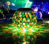 LED de Energía Solar jardín mosaico de la luz decorativos de vidrio para el Festival de parte de la barra de inicio