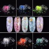 Блестящие цветные лаки лак для ногтей Iridescent Holo лазера Sequin пыли лак для ногтей искусства хлопья