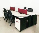 Stahl- oder bewaldeter Büro-Furniutre kundenspezifischer Arbeitsplatz mit Schrank