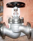 Válvula de globo dupla do selo do fole da flange do aço de carbono de Wcb