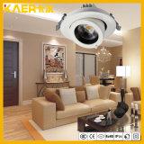 liga de alumínio do CREE 18W luz encaixada 360 graus do nariz do diodo emissor de luz da luz de teto