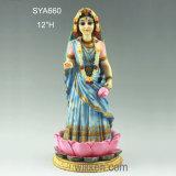 In het groot Godsdienstig Vrouwelijk Hindoes Standbeeld voor Herinnering