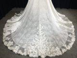 Линия съемные настроить кружевом и атласным свадебные платья