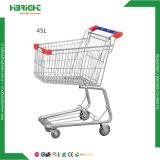 Carretilla de las compras del supermercado del metal de 4 ruedas para la venta