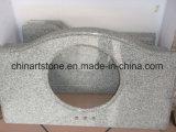 Китайский Countertop кухни камня кварца мрамора гранита серой белизны Polished