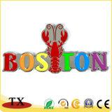 Magnete turistico del frigorifero del ricordo in lega di zinco dell'aragosta dell'OEM Boston