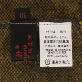 Gn1114 Iaque e lã tecidos Longsleeve mesclado pulôver para Mulheres