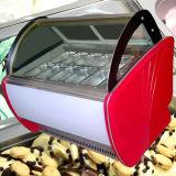 Gelato congélateur d'affichage de la crème glacée avec 14 Casseroles