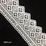 7cm 백색 가장자리 손질 레이스 결혼식을%s 완벽한 손질 레이스, 의복, 기술은, 메시 사각 Hmw6318를 가진 커튼을 베게를 밴다