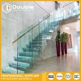 방책 현대 LED 계단을%s 가진 층계 디자인 유리제 층계