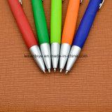 Резиновые готовой отель пластиковых пера шариковой ручки с логотипом (LT-E196)