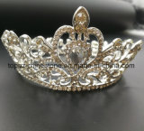 2018のカスタマイズされた水晶王冠の結婚式のラインストーンのティアラの子供の花嫁の王冠(BC01)