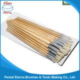 12PCS pega de madeira Artista Ajuste da escova (582)