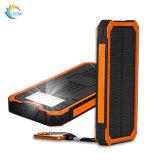 Portátil impermeable 20000mAh de energía solar Banco con mosquetón