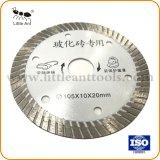 105мм сверхтонкий Turbo режущий диск аппаратных средств алмазные пилы для керамической белого цвета