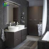 Miroir de salle de bains en verre avec mise en miroir du cabinet d'angle