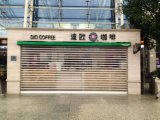 Mercado da China Perspectiva vertical de rolamento de roletes de policarbonato inquebrável porta do obturador
