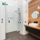 Doccia semplice di vetro di vendita calda della stanza da bagno di 10mm