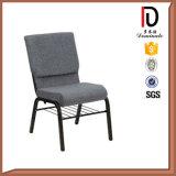 ブラウンファブリッククッションの鋼鉄足教会椅子のブロムJ043