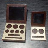 Rectángulo de regalo de papel de empaquetado cosmético de la impresión colorida con el espejo