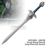 Grande espada real 103cm Jot1858 de Larp Warcraft da espada