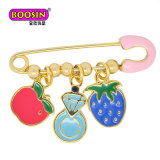 Wholesale Fashion Accessories Fancy Gold Plated Lovely Custom Pins with Charms