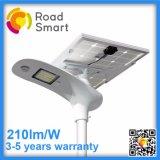 210lm/W todo em uma lâmpada de rua do jardim do diodo emissor de luz com bateria de lítio