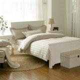 Комплект постельных принадлежностей гостиницы нашивки сатинировки Brown высокого качества