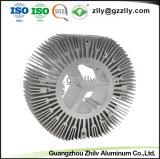 Rond en aluminium argenté personnalisé dissipateur de chaleur avec la norme ISO9001